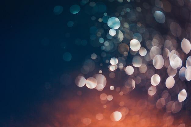 Bokeh światła od plusk wody