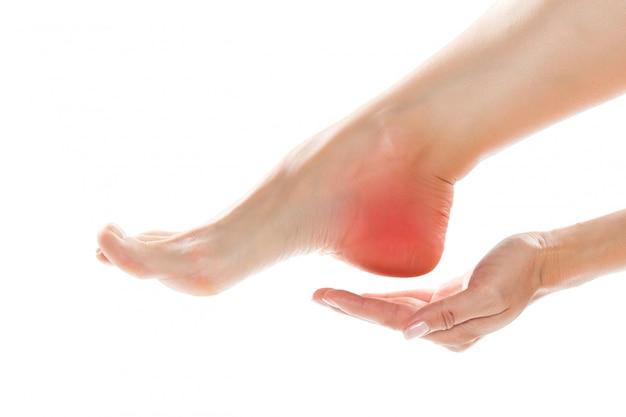 Ból kobiety u stóp