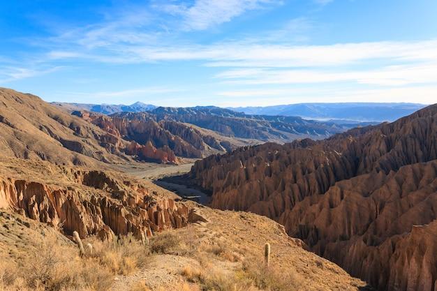 Boliwijski kanion w pobliżu tupizy