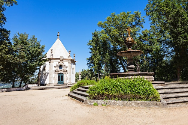 Bom jesus do monte to portugalskie sanktuarium niedaleko bragi w portugalii