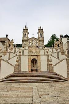 Bom jesus robi monte kościół w braga mieście, portugalia