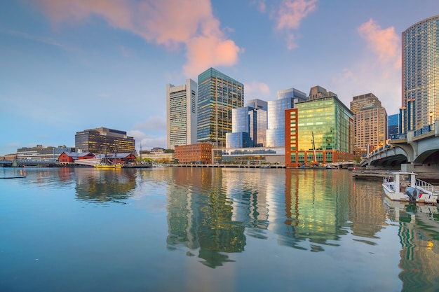 Boston śródmieście panoramę miasta usa