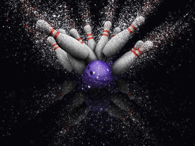 Bowling piłkę kręgle