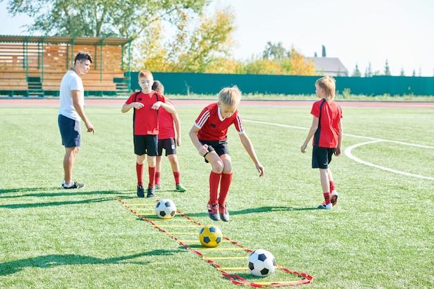 Boys in sports training