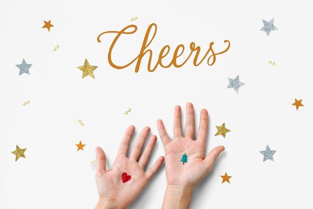 Boże narodzenie cheers celebration party xmas concept