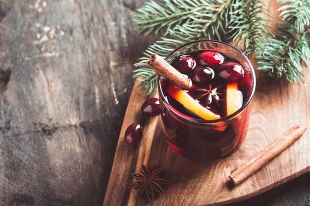 Boże narodzenie grzane wino. tradycyjny świąteczny napój