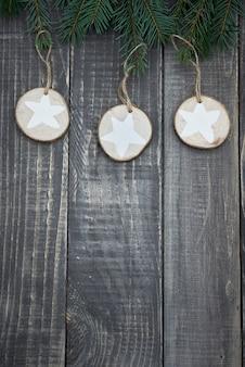 Boże narodzenie gwiazdki na drewnie