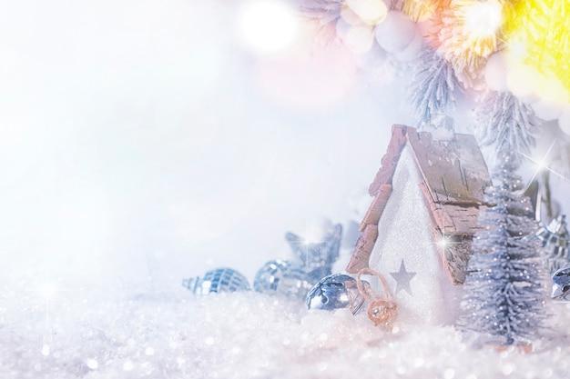 Boże narodzenie i nowy rok tło wakacje, sezon zimowy. kartkę z życzeniami świątecznymi