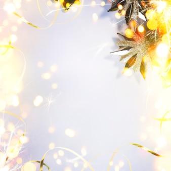 Boże narodzenie i nowy rok tło wakacje z bokeh