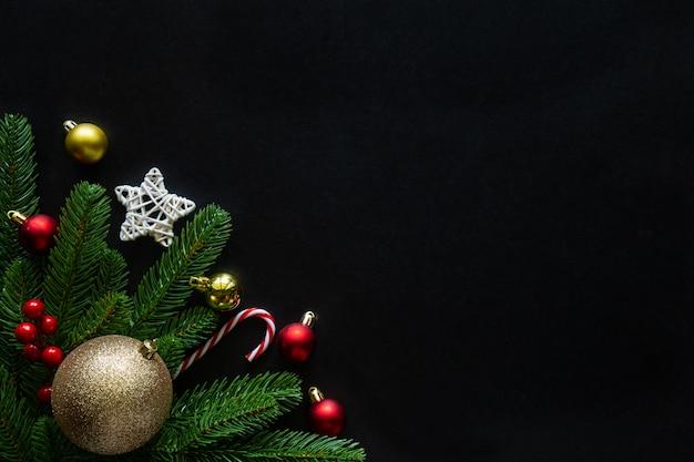 Boże narodzenie i nowy rok wakacje tło zdobione motyw domu.