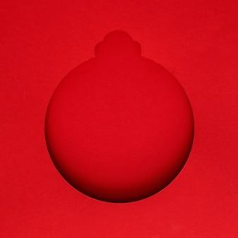 Boże narodzenie papieru kształt przestrzeni kopii christmas ball