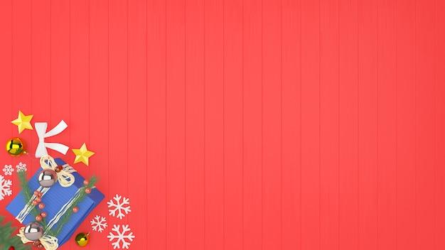 Boże narodzenie prezent pudełko drewniane ściany podłogowe drzewo szablon tło dekoracji szablonu