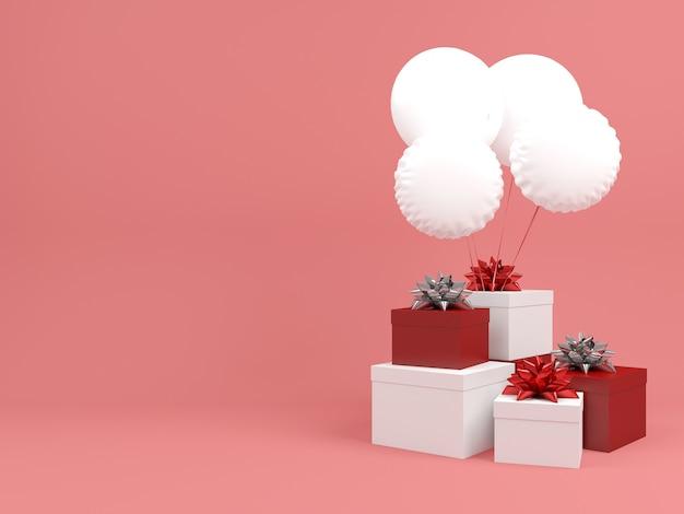 Boże narodzenie pudełko pastelowe tło