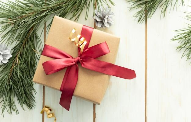 Boże narodzenie pudełko z dekoracją na drewniane