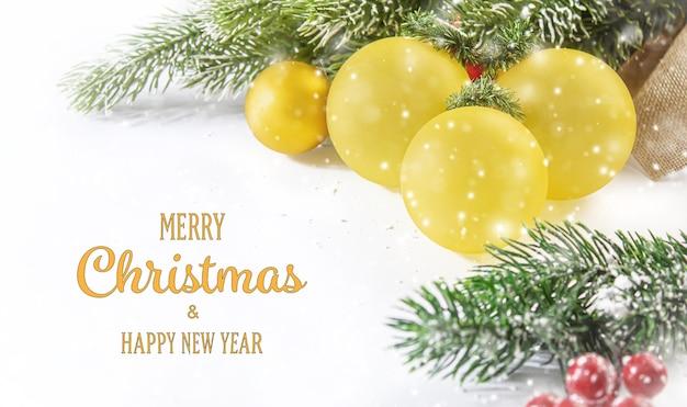 Boże narodzenie tło. szczęśliwego nowego roku. selektywna koncentracja wakacje