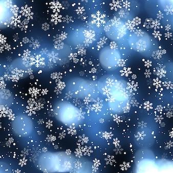 Boże narodzenie tło z spadającymi płatkami śniegu