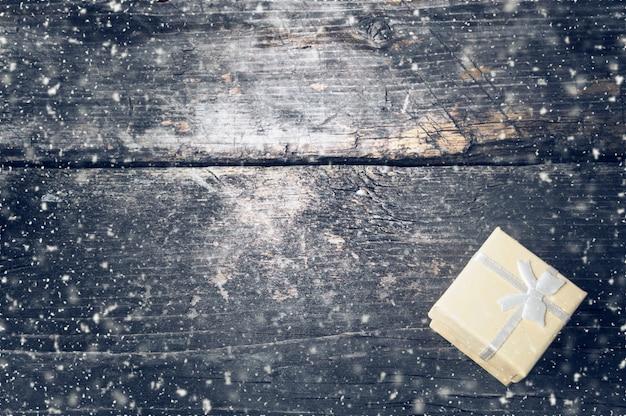 Boże narodzenie vintage ciemne drewno