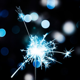 Bożenarodzeniowy błękitny sparkler