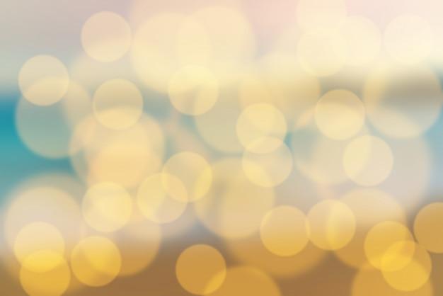 Bożonarodzeniowe światła bokeh i żarówki zamazywali tło