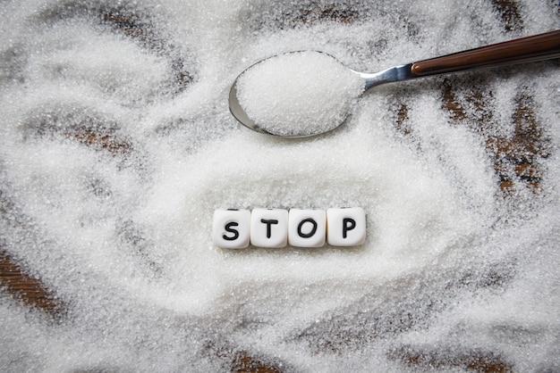 Brak bloków tekstowych stop cukru