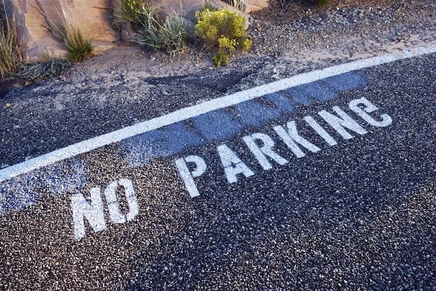 Brak znaku parkingowego