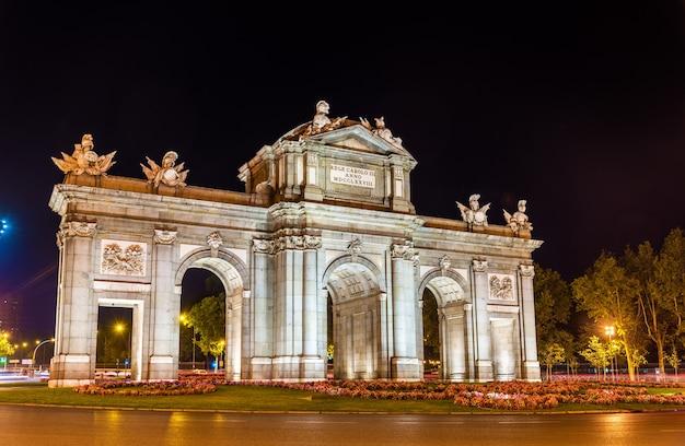 Brama alcala w madrycie w hiszpanii