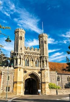 Brama fyndon opactwa św. augustyna w canterbury kent, wielka brytania