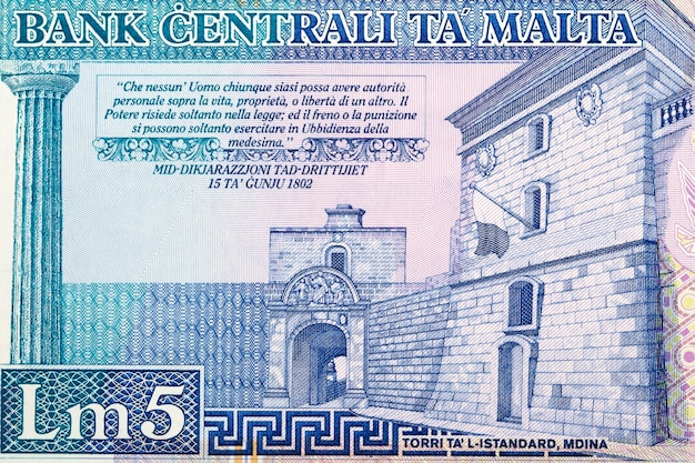 Brama mdina z liry maltańskiej