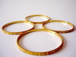 Bransoletki złoty, koła, wiele, bransoletki