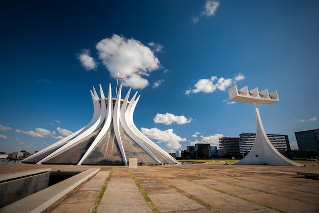 Brasilia, brazylia - 26 maja 2006 - brazylijska katedra w federalnym dystrykcie brasilia
