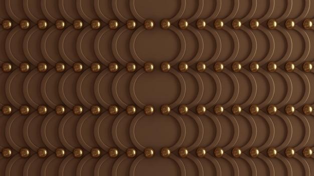 Brązowa architektura, wzór wnętrza, ściana w kolorze beżowego złota. renderowania 3d.
