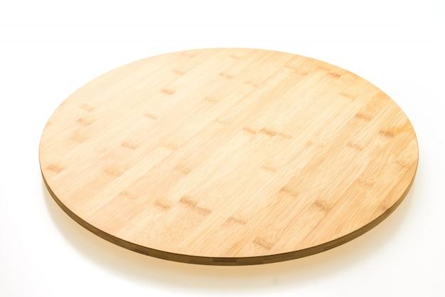 Brązowa drewniana deska do krojenia