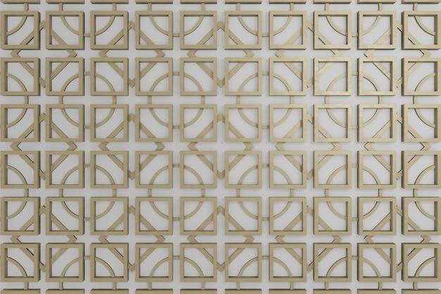 Brązowa i szara ściana 3d na tapetę tła lub dekoracja ścienna lub tło.