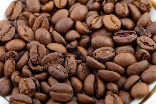 Brązowa kawa palona