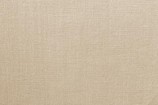 Brązowa lniana tkanina tekstura tło z wzór.