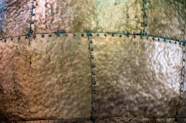 Brązowa metalowa tekstura