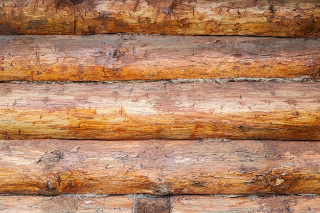 Brązowa tekstura drewna z poziomymi liniami prętów