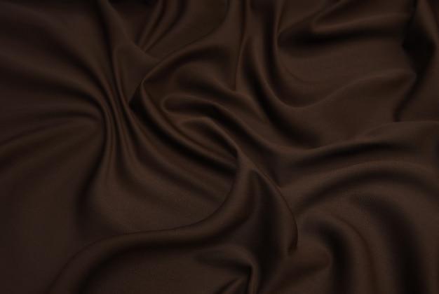 Brązowa wełniana tkanina tweedowa na tle