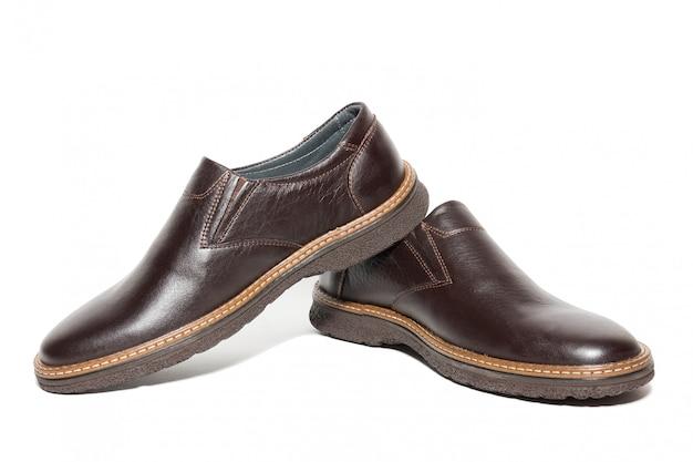 Brązowe buty męskie