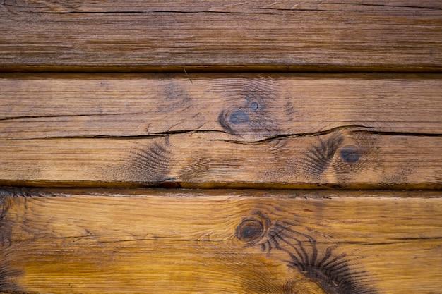 Brązowe drewniane deski ściany tekstura tło