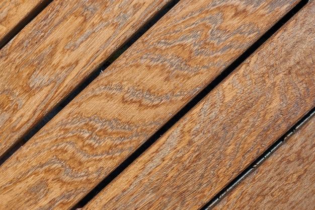 Brązowe drewniane deski tekstury i przestrzeni.