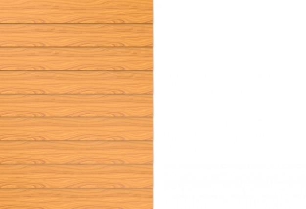 Brązowe drewniane panele ścienne na tle białej kopii przestrzeni.