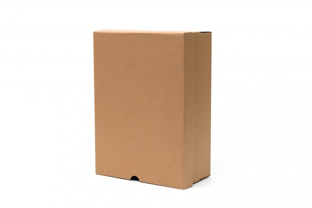 Brązowe kartonowe pudełko na buty do pakowania butów lub butów