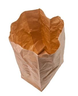 Brązowe papierowe torby chroniące środowisko