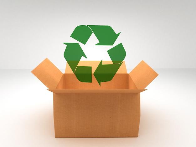 Brązowe pudełka poddają się recyklingowi