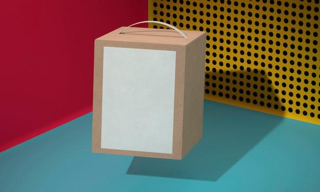 Brązowe pudełko kartonowe z uchwytem
