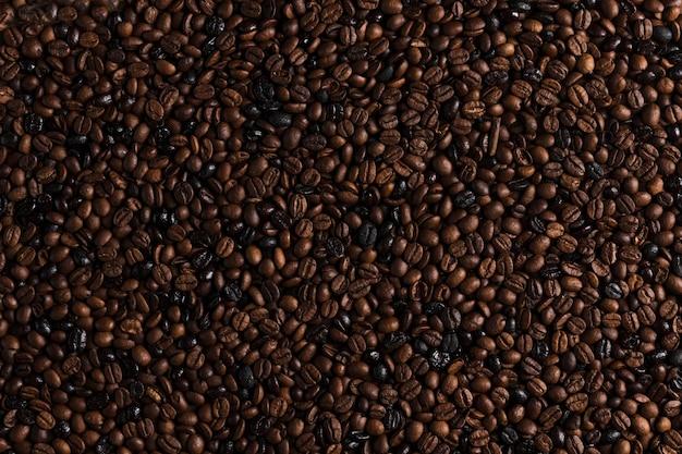 Brązowe ziarna kawy
