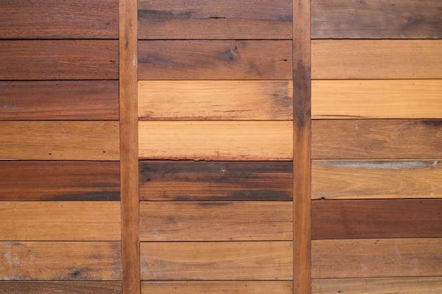 Brązowy deska ściany tekstury tła