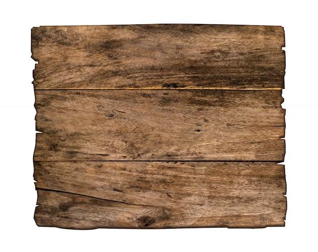 Brązowy drewniany znak na białym tle.
