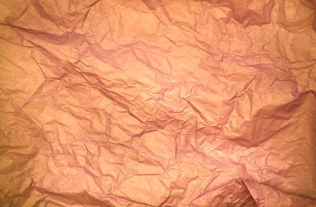 Brązowy kolor pognieciony papierowa tekstura tła pomarszczona tekstura papieru bibułkowego